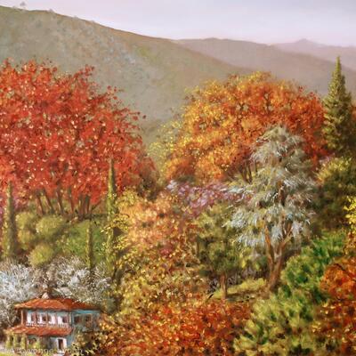 Pareskevi Valley in Autumn