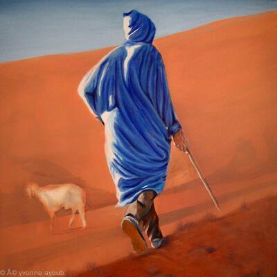 Berber Shepherd in the Atlas Mountains