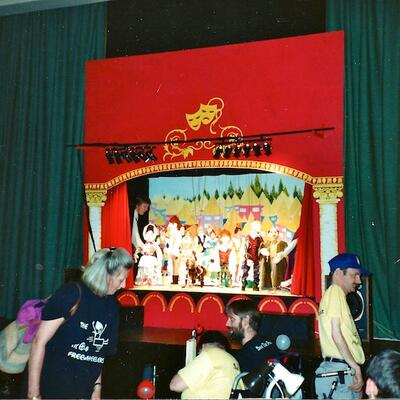 Sets for Puppet show, Freewheelers Co. 02