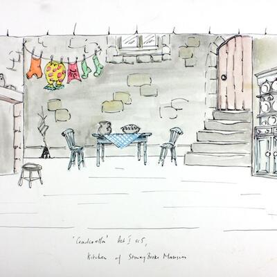 Set design for Cinderella Pantomime, Cobham Players 03