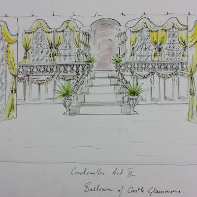 Set design for Cinderella Pantomime, Cobham Players 04