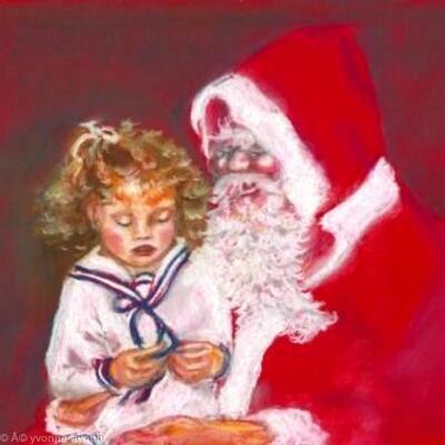 On Santas knee