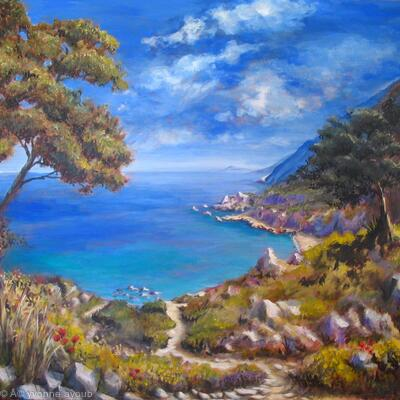 Path to Kechria Beach, Skiathos