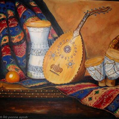 Still Life with Arabian Oud