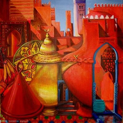 Medina Marrakesh, surreal