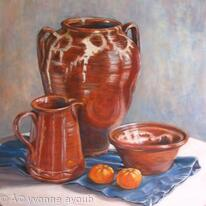 Skyros Pots with Mandarins