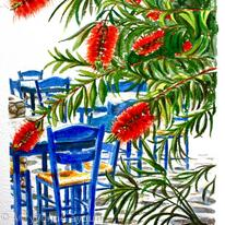 Bottlebrush and Blue