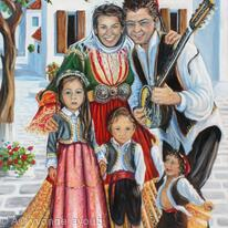 Skiathos Family in Traditional Dress