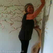 Mural painting in progress