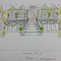 Set design for Cinderella Pantomime, Cobham Players 04