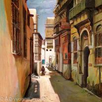 Old Jeddah Street Saudi Arabia