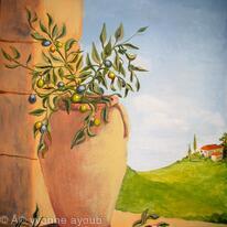 Olive Jar - finishing touches