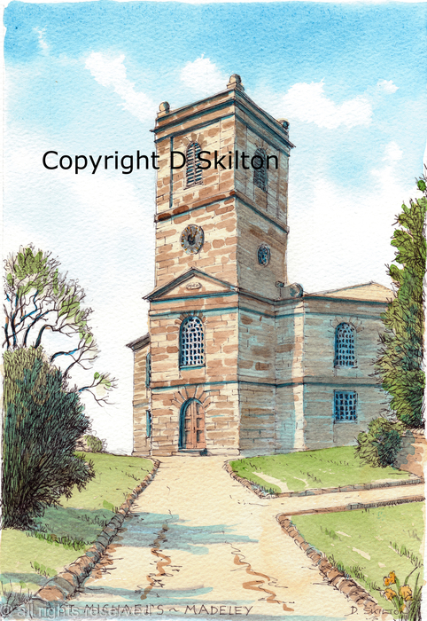Madeley church st michaels greeting card printed on quality card madeley church st michaels greeting card m4hsunfo
