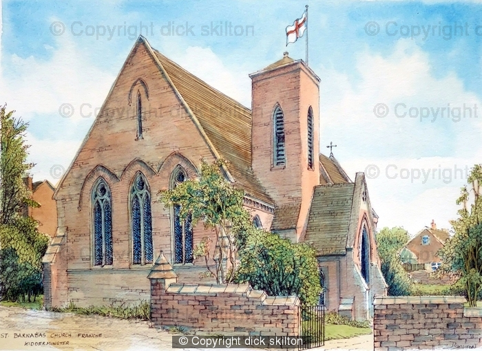 Franche St Barnabas Church kidderminster Worstershire Greeting card