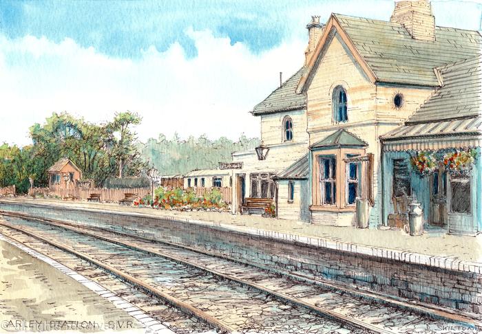Arley Station S.V.R. looking north, greeting card