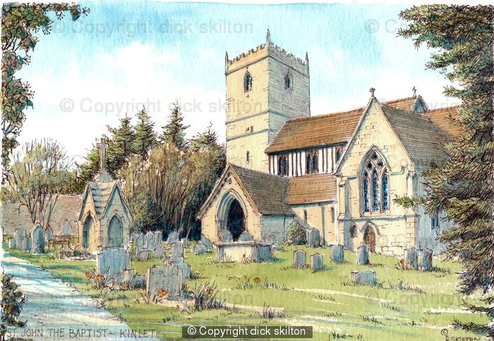 Kinlet Church St John The Baptist, greeting card