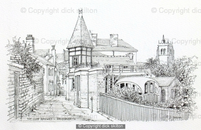 Bridgnorth Cliff Railway Shropshire greeting card
