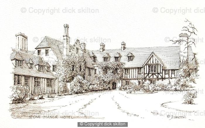 Stone Manor Hotel near Kidderminster Worcestershire greeting card
