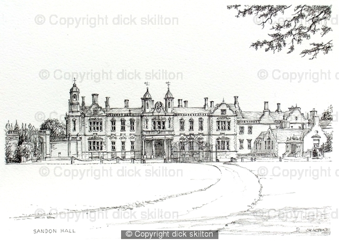 Sandon hall Staffordshire, greeting, invitation  or thank you card