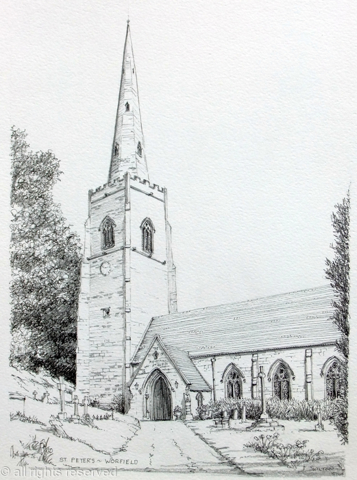 Worfield Church Nr Bridgnorth Shropshire Greeting Card