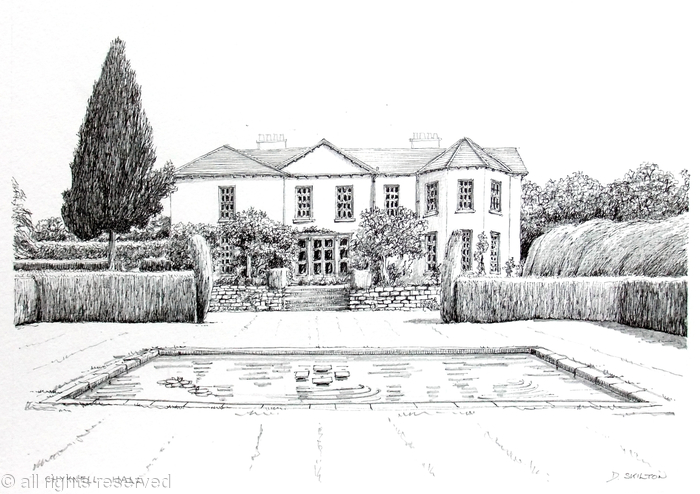 example of a house drawing for a shoot card or any house for any