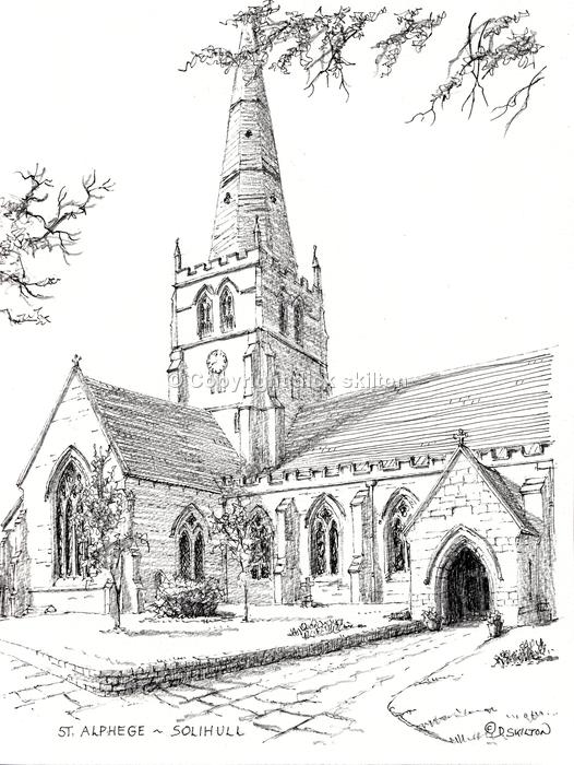 St. Alphege church Solihull print