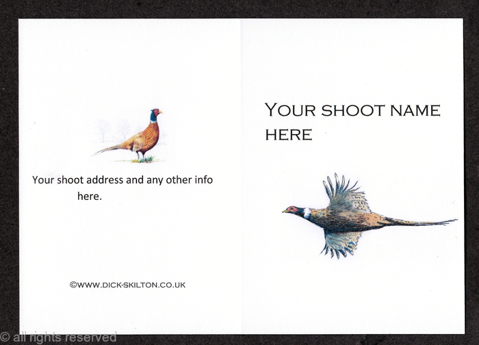 Example Of Traditional Size Shoot Card 4 Quot By 3 Quot With