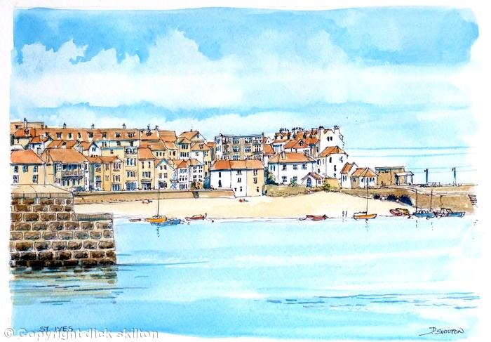 St Ives Cornwall greeting card
