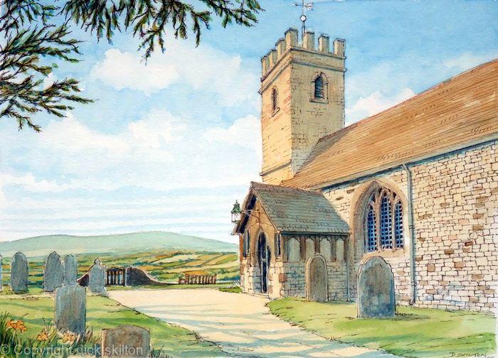 Bayton Church as a greeting card