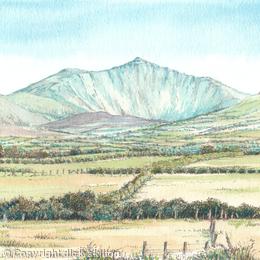 Snowdon from llanfaglan near Caernarfon North Wales
