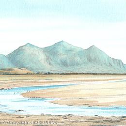 The Rivals from Llanfaglan near Caernarfon, greeting card