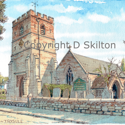 Trysull Church All Saints Staffordshire greeting/ thank you  card