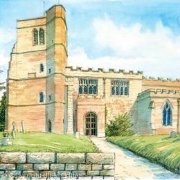 St. Pete'rs Upper Arley Worcestershire greeting card