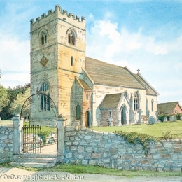 Harley Church St Mary's Harley Bank Shropshire nr. Cressage greeting card