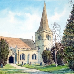 Stoke Prior Church Worcestershire greeting card