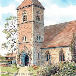 Bobbington Church Holy Cross Nr Claverley Staffordshire