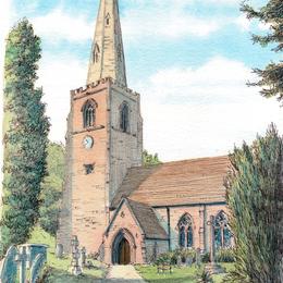 Worfield St Peters Nr Bridgnorth greeting card