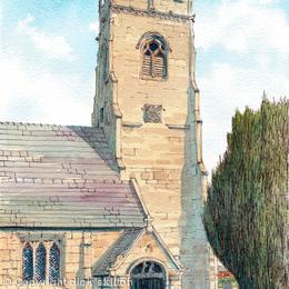 Shawbury Church St Mary's Telford, greeting card