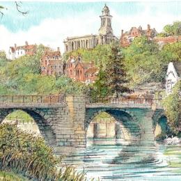 Bridgnorth & The River Severn greeting card