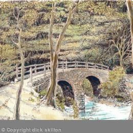 The Donkey Bridge New England Nr Highley Shropshire, greeting card