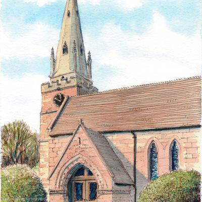 Wombourne Church St.Benedict Biscop Staffordshire