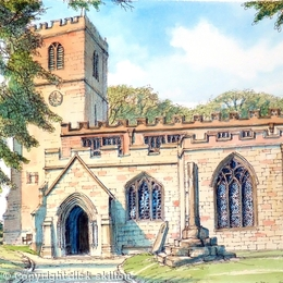 Alveley St Mary The Virgin Shropshire as a greeting card. Prints available