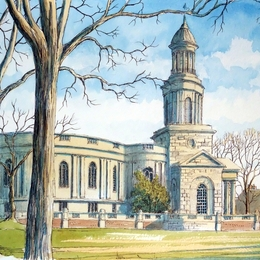 St Chad's Church Shrewsbury as a greeting card. Prints available.