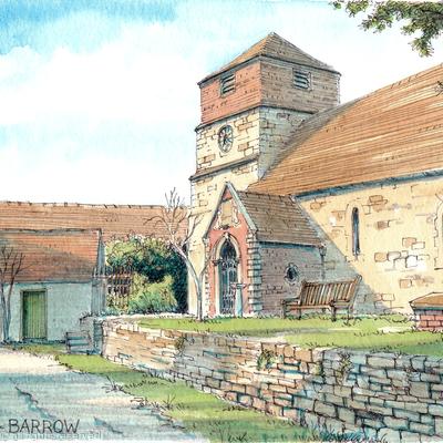 Barrow Church Near Broseley as a greeting card