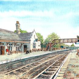 Bridgnorth Station Severn valley Railway greeting card