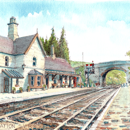Arley Station looking south greeting card