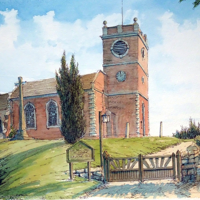 Quatt Church St Andrew's as a greeting card. prints available.