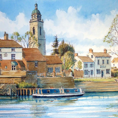 Upton On Severn Worcestershire, greeting card