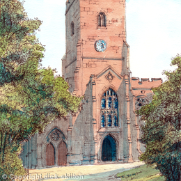 Hartlebury Church St James the Great worcestershire greeting card