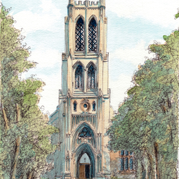 St Georges Kidderminster Worcestershire, greeting /thank you card